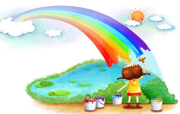 Bir doğa sanatı Gökkuşağı ve renklerin anlamları