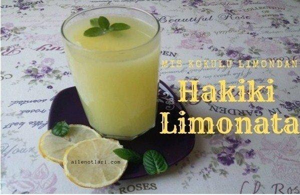 Mis kokulu limondan hakiki limonata nasıl yapılır