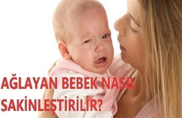 ağlayan bebeği sakinleştirmek için